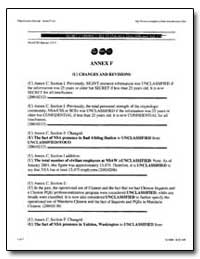 Annex F : Changes and Revisions by