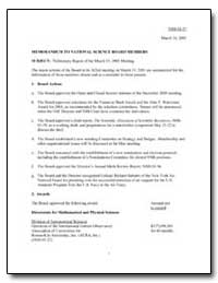 Preliminary Report of the March 15, 2001... by Cehelsky, Marta