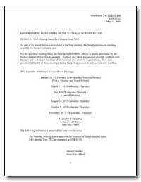 Nsb Meeting Dates for Calendar Year 2002 by Cehelsky, Marta