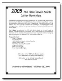 2005 Nsb Public Service Awards Call for ... by Fannoney, Susan E.