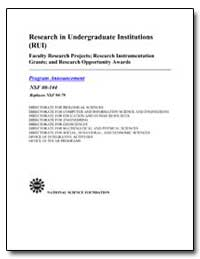 Research in Undergraduate Institutions (... by