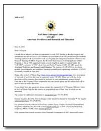 Nsf Dear Colleague Letter Aware American... by De Angelis, Alexander P.
