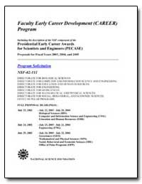 Faculty Early Career Development (Career... by