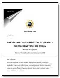 Announcement of New Mandatory Requiremen... by Varandan, Vasundara V.