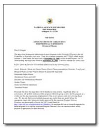 Announcement of Target Date for Proposal... by Dehmer, Joseph L.