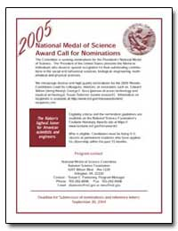 2005 National Medal of Science Award Cal... by Fannoney, Susan E.
