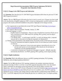 Major Research Instrumentation (Mri) Pro... by
