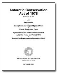 Antarctic Conservation Act of 1978 by