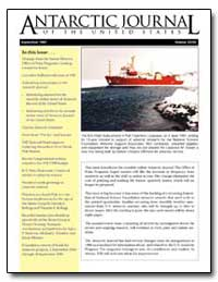 Antarctic Journal of the United States by Stroeven, Arjen P.