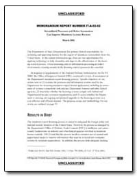 Memorandum Report Number It-A-02-02 Stre... by Bloomfield, Lincoln P.