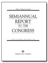 Semiannual Report to the Congress by Sundro, Linda G.