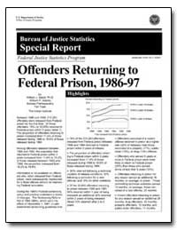 Offenders Returning to Federal Prison, 1... by Sabol, William J.