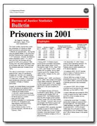 Prisoners in 2001 by Harrison, Paige M.