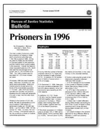 Prisoners in 1996 by Mumola, Christopher J.