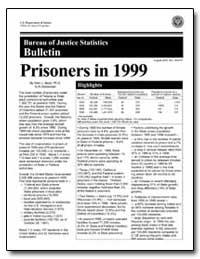 Bureau of Justice Statistic Bulletin by Beck, Allen J., Ph. D.
