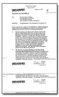 Reorganization of the Intelligence Commu... by Carter, Jimmy