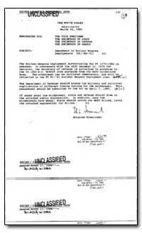 Amendment to Nuclear Weapons Deployments by Brzezinski, Zbigniew