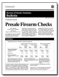 Presale Firearm Checks by Manson, Don