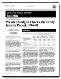 A National Estimate Presale Handgun Chec... by Manson, Donald A.