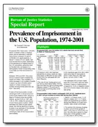 Prevalence of Imprisonment in the U.S. P... by Bonczar, Thomas P.