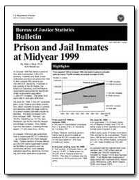 Prison and Jail Inmates at Midyear 1999 by Beck, Allen J., Ph. D.