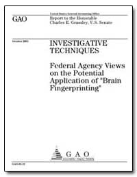 Investigative Techniques Federal Agency ... by Jones, Paul L.