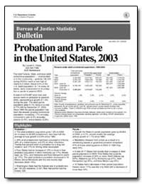 Probation and Parole in the United State... by Glaze, Lauren E.