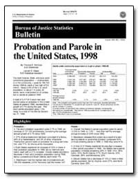 Probation and Parole in the United State... by Bonczar, Thomas P.