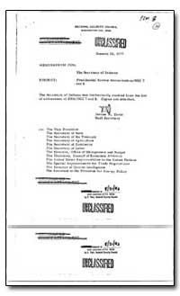 Presidential Review Memorandum /Nsc 7 an... by Davis, Jeanne W.