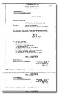 Nuclear Proliferation Presidential Revie... by Davis, Jeanne W.