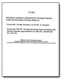 Fy 2003 Drawdown Assistance Authorized f... by