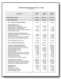 Fy 2004 International Affairs Summary De... by