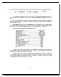 Country Rankings : 1999 as a Statistical... by