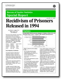 Recidivism of Prisoners Released in 1994 by Langan, Patrick A.