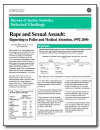 Rape and Sexual Assault: Reporting to Po... by Rennison, Callie Marie, Ph. D.
