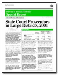 State Court Prosecutors in Large Distric... by Defrances, Carol J., Ph. D.