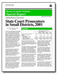 State Court Prosecutors in Small Distric... by Defrances, Carol J., Ph. D.