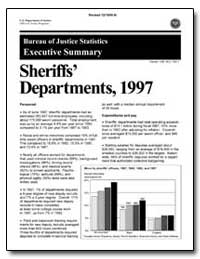 Sheriffs' Departments, 1997 by