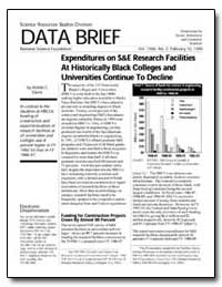 Expenditures on S&E Research Facilities ... by Davis, Abiola C.