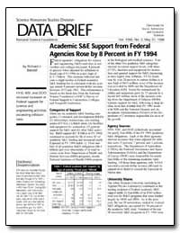 Academic S&E Support from Federal Agenci... by Bennof, Richard J.