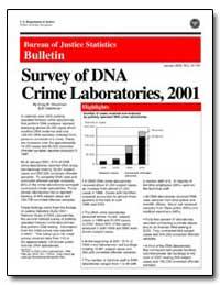 Survey of Dna Crime Laboratories, 2001 by Steadman, Greg W.