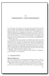 Foresight and Hindsight by