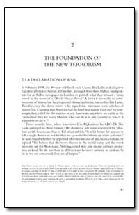 The Foundation of the New Terrorism by