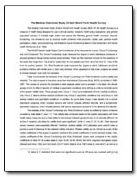 The Medical Outcomes Study 36-Item Short... by