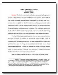 Amendment Update October, 2004 by Cohen, Sheldon I.