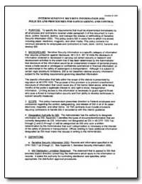 Interim Sensitive Security Information (... by