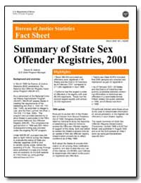 Summary of State Sex Offender Registries... by Adams, Devon B.