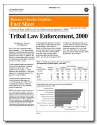 Tribal Law Enforcement, 2000 by Hickman, Matthew J.