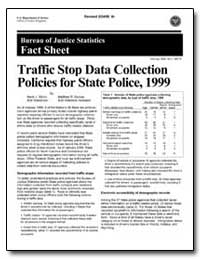 Traffic Stop Data Collection Policies fo... by Strom, Kevin J.