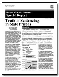 Truth in Sentencing in State Prisons by Ditton, Paula M.